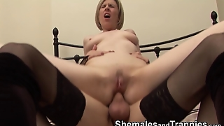Shemale With An Amateur Tranny And Woman