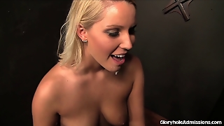 Sexy Blonde Sinner Begs The Glory Hole For Forgiveness!