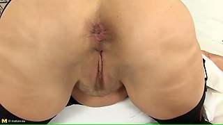 Masturbating Solo Mature Pisses In A Bowl