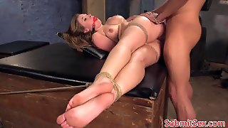 Electrosex Sub Restrained For Pussy Fucking