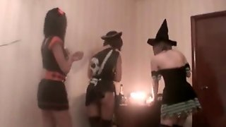 Crazy Halloween Lesbian Party
