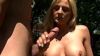 Sindy Lange Is A Blonde Milf Who, After A Recent Tragedy, Deserves Some Innocent Fun In The Sun, Aka Pussy Licking And Tit Worship. Hey, Works Out Just Fine For Us Viewers.