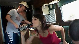 Nasty Picked Up Babe Gets Pussy Fuck In My Bang Van