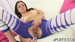 Wet Pussy With Dildo Playing