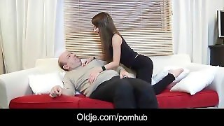Super-Hot Cock Sucking Teen Fucked By French Old Guy