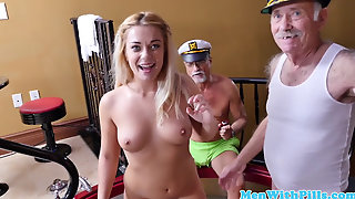 Amateur Teen Analized With Grandpa Cock