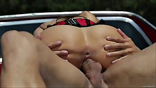 Curvy Latina In A Corset Getting Banged In A Trunk Of A Pickup Truck