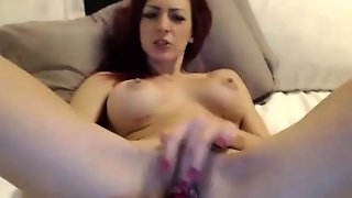 Big Tit Red Head Milf Toying On Webcam