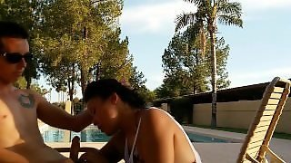 Puke Blowjob Public Pool