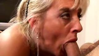 Mature Blonde Blow Job