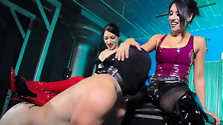 Fucked By 2 Strapon Mistresses