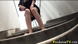 Asian Babe Pees In Public