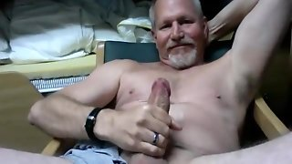 Mature Straight Man Cums