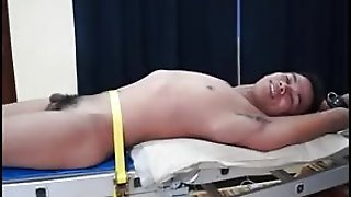 Asian Boy Warren Racked And Tickled