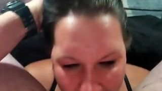 Epic Green Puke Mess! Deepthroat Blowjob Milf Girlfriend Gag