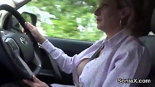 Unfaithful British Milf Lady Sonia Shows Off Her Monster Knockers