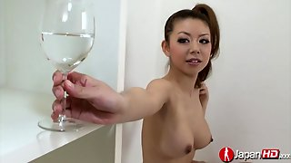 Busty Squirting Japanese Teen Oiled Up