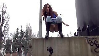 Outside, Pee In Public, Pissing, Squirt, Outdoors, Orgasm, Fetish, Peeing, Got2Pee, Girl, Public Piss