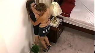 Thrilling Softcore Lesbian Scene With Two Busty Latinas