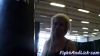 Lovely Babes Pussytoying In The Boxing Ring