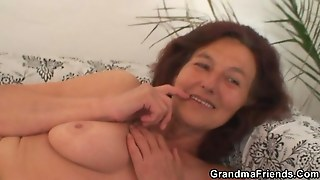 Horny Chubby Granny Has Sex With Two Lucky Guys