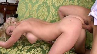 Riding, Blowjob, Couple, Shaved Pussy, Fake Tits, Pornstar, Straight, Hd, Pussy Licking, Doggy Style, Milf