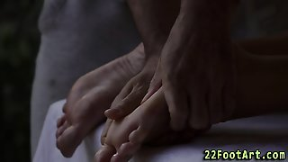 Blonde Gets Feet Spunked