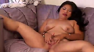 Chubby Asian Amateur Threesome