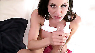 Kendra Lust Plays With A Cock