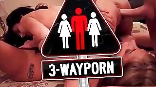 3-Way Porn - 2 Inked Curvy Brunettes Suck For Facial