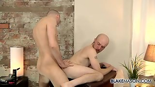 Bald Older Guy Bent Over And Fucked In The Butt