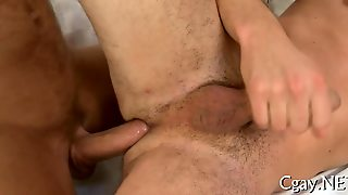 Lubricous Blowjob For Gay Stud