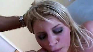 Blonde Girl Swallowing