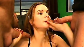 Young Sluts Get Their Holes Nailed Rough And Swallow Big Loads Of Jizz