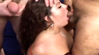 Mexican Creampie Gang Bang