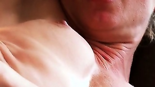 Filthy Blond Whore Gets Wet Cunt