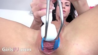 Gyno Toy With Brunette