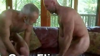 Gay Bear Old Guy Fucked