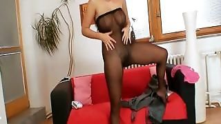 Carmen Croft Big Tits Nylon Pantyhose Covered