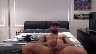 Eruption, Horny, Explosion, Dick, Muscle, Cumshot, Solo Male, Jizz, Bed, Hung, Solo
