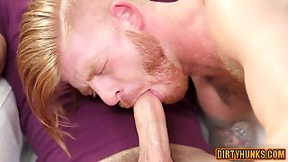 Muscle Son Threesome And Facial