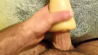 Big Cock Masturbates With Toy