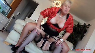 Mature Lesbians In Clothes Test Their New Sex Toys