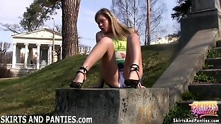 Florida Flashing Her Tiny Little Panties In Public