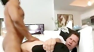 Gay Interracial Big Black Cock Ass Fuck