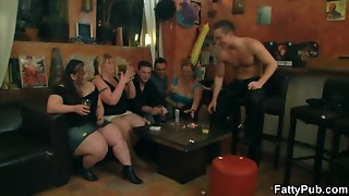 Spin The Bottle Leads To Bbw Group Sex