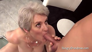 Granny Is Nailed In Doggy Style