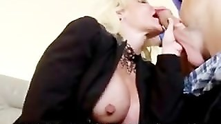 Big Tits Blonde And Police Man