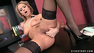 Office Time Delights By A Horny Secretary Regina Ice