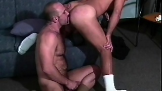 Two Muscled Gay Guys In Uniform Are Eager To Enjoy A Good Anal Fucking